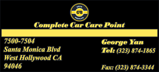 G & B COMPLETE CAR CARE POINT