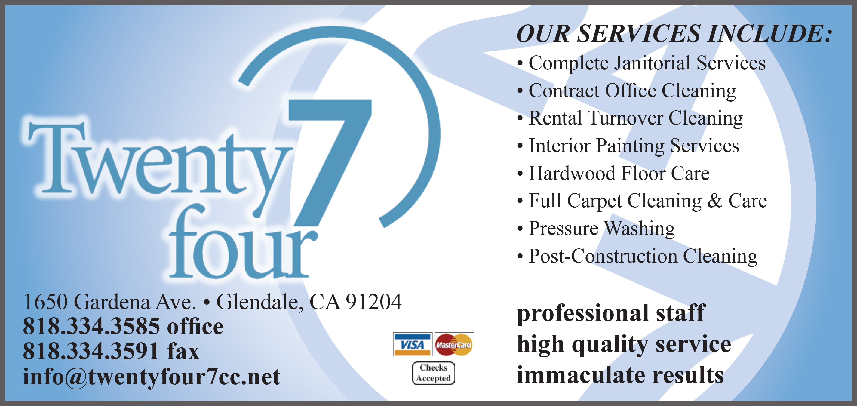 TWENTY FOUR 7 CLEANING SERVICES