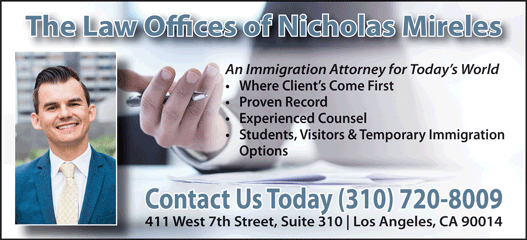 THE LAW OFFICE OF NICHOLAS J. MIRELES, APC