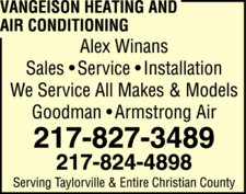 Vangeison Heating And Air Conditioning