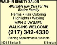 Walk-In Beauty Salon