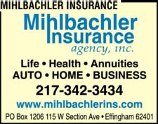Mihlbachler Insurance Agency Inc