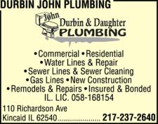 Durbin John Plumbing