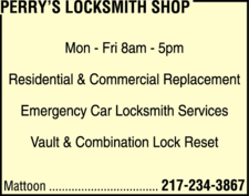 Perry's Locksmith Shop