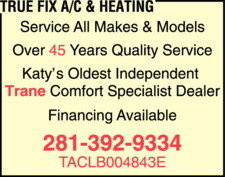 True Fix Air Conditioning & Heating