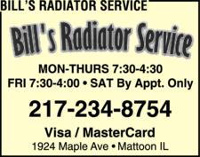 Bill's Radiator Service