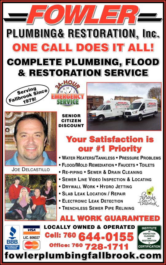 Fowler Plumbing & Restoration