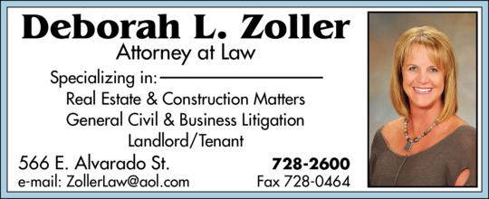 Zoller, Deborah L Attorney at Law