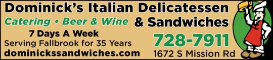 Dominick's Italian Deli & Sandwiches
